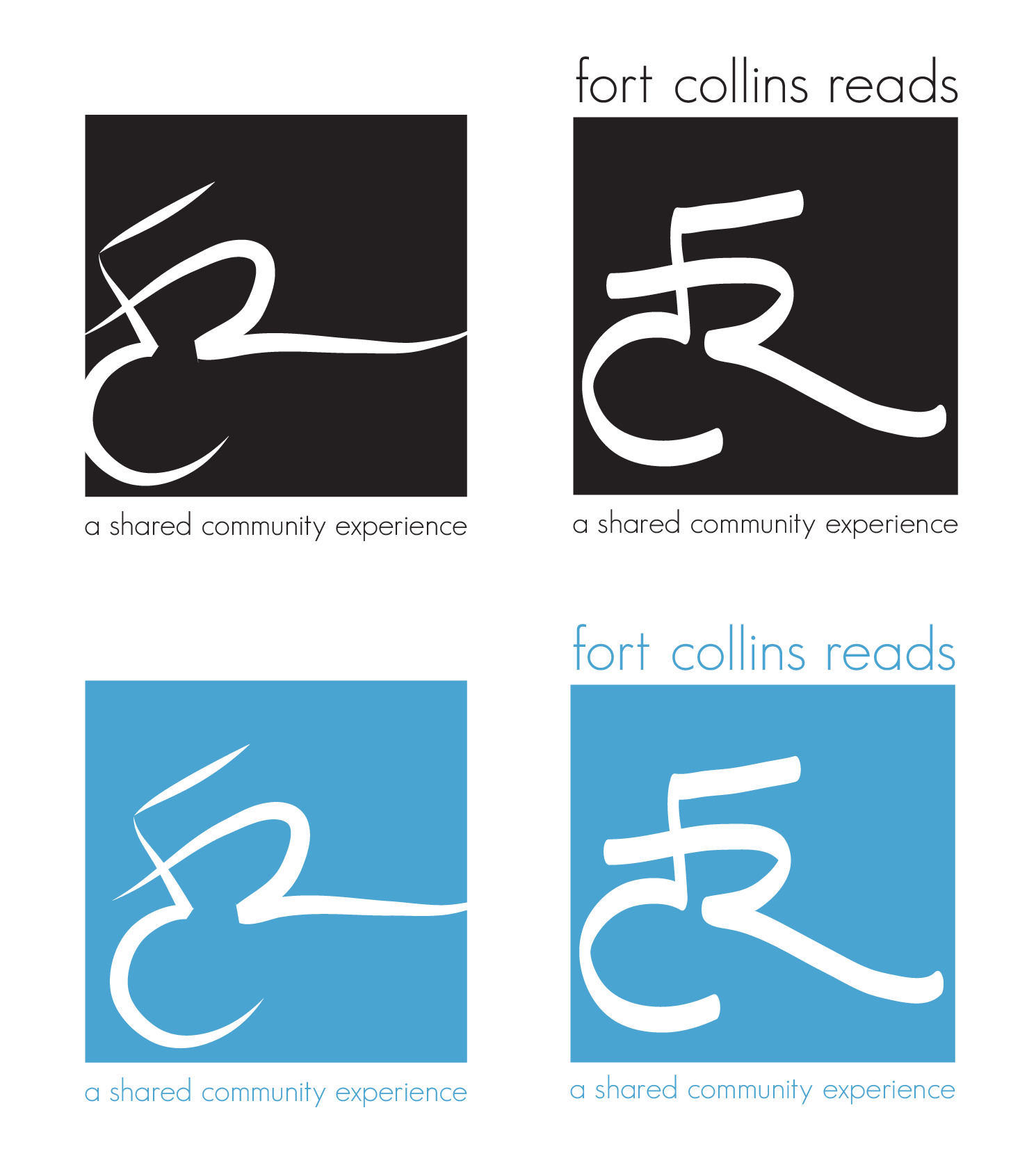 Logo concept block-out