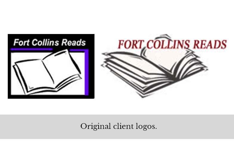 Original logos for Fort Collins Reads organization