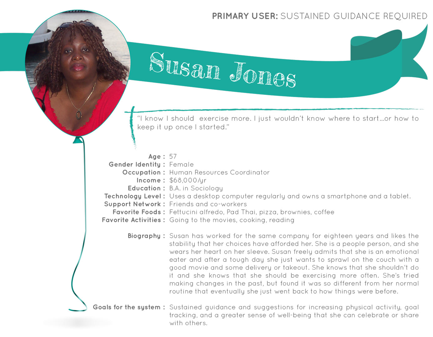 Primary persona: Susan Jones