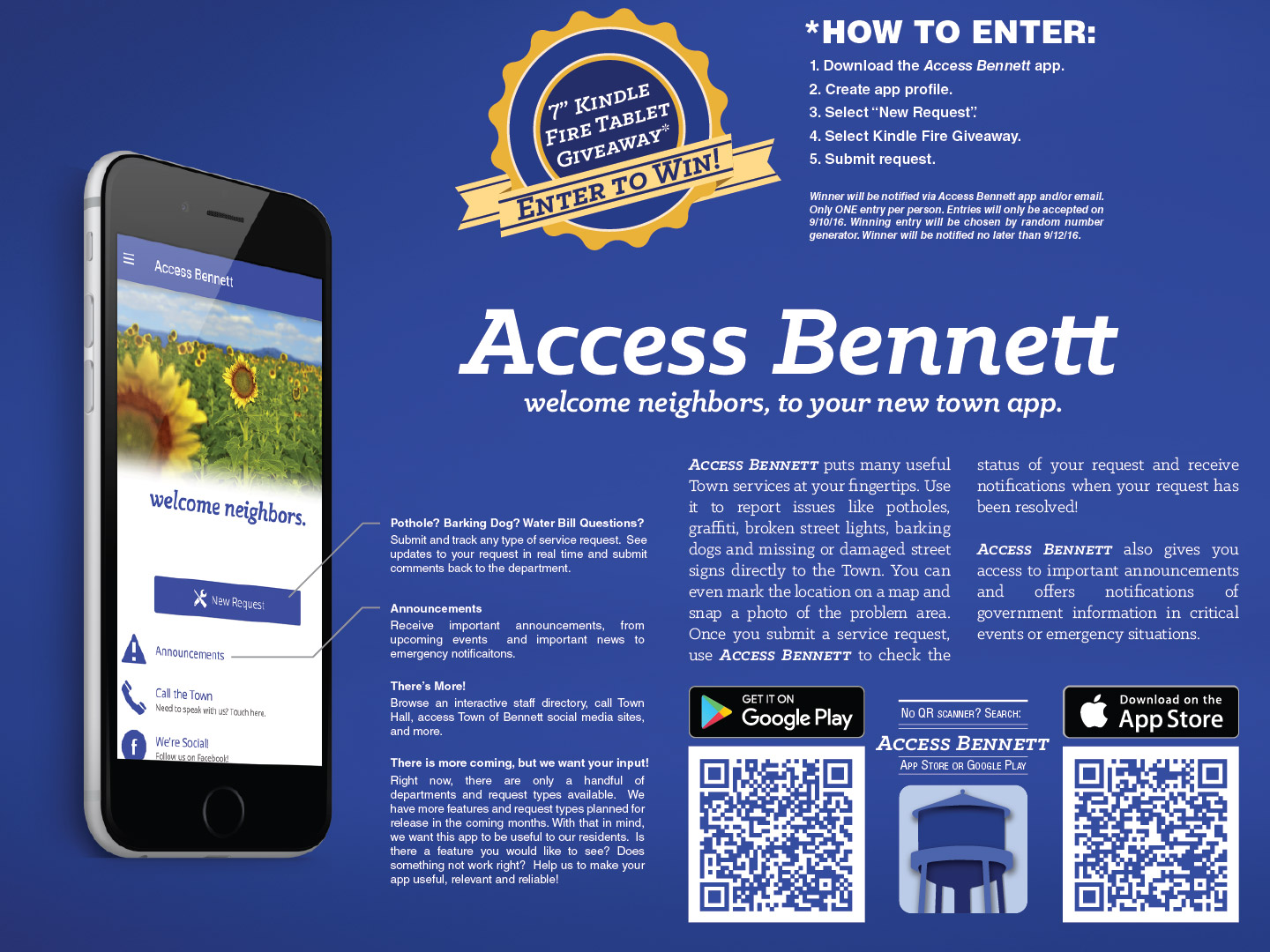 Poster for Access Bennett app launch event