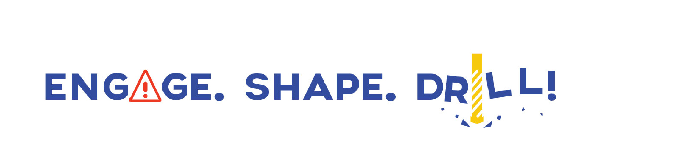 Logo for special Engage Shape Build event titled Engage.Shape.Drill.