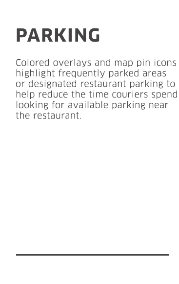 Animated GIF of parking feature.